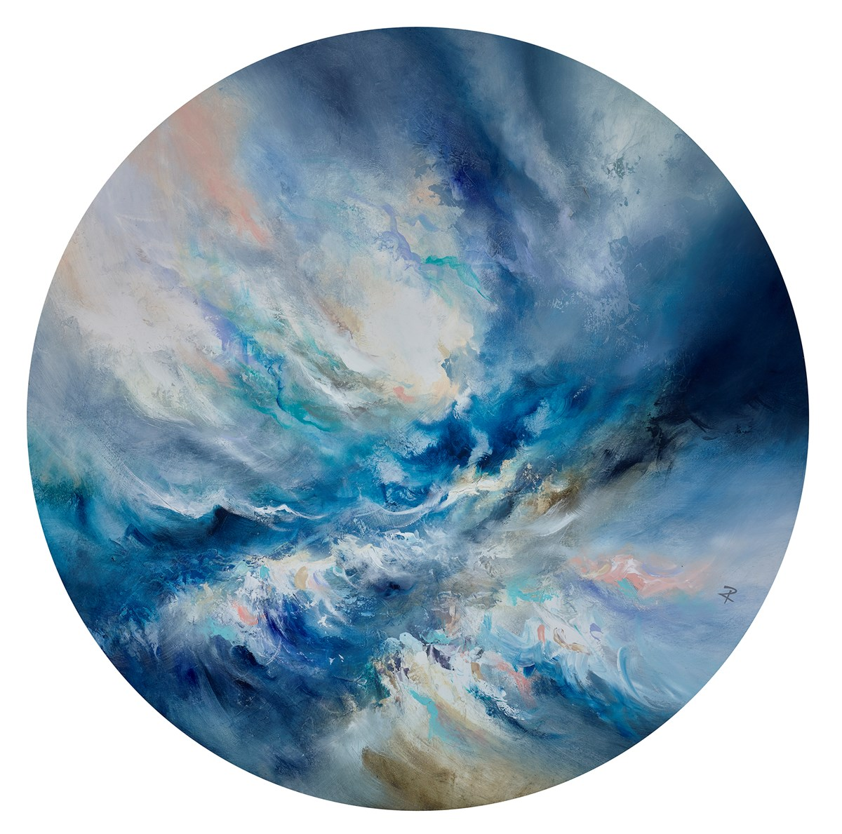 Ocean Oracle by chris and steve rocks -  sized 39x39 inches. Available from Whitewall Galleries